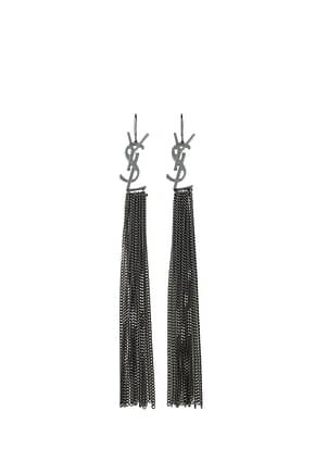 Saint Laurent Earrings Women Brass Gray