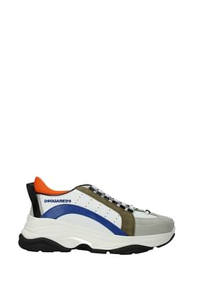 Dsquared2 Sneakers Men Leather White Blue