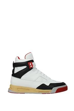 Maison Margiela Sneakers Homme Cuir Blanc Noir