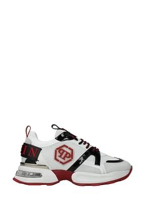 Philipp Plein Sneakers hexagon Men Leather White Red