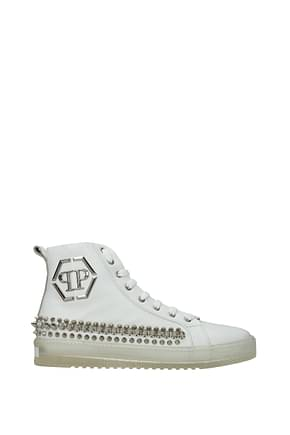 Philipp Plein Sneakers Men Leather White
