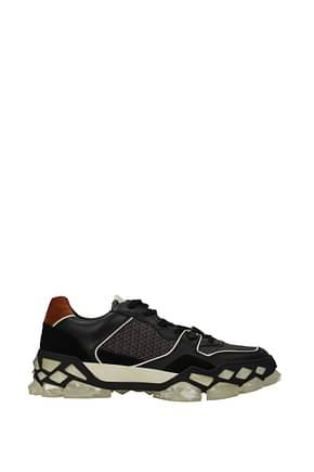 Jimmy Choo Sneakers diamond x trainer Men Fabric  Black Tan