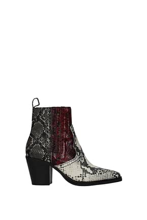 Steve Madden Ankle boots Women Eco Leather Gray Burgundy