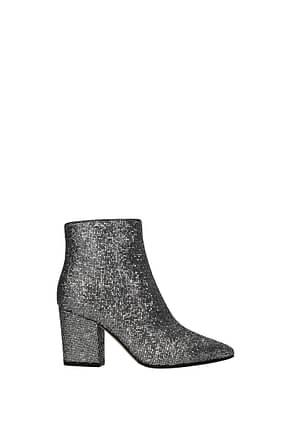 Sergio Rossi Ankle boots Women Glitter Silver
