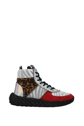 Giuseppe Zanotti Sneakers Men Fabric  Multicolor