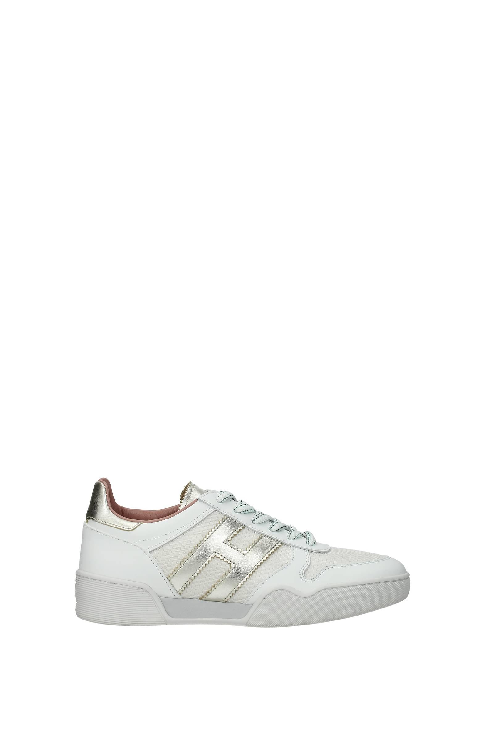 Hogan Sneakers h357 Donna Pelle Bianco Platino