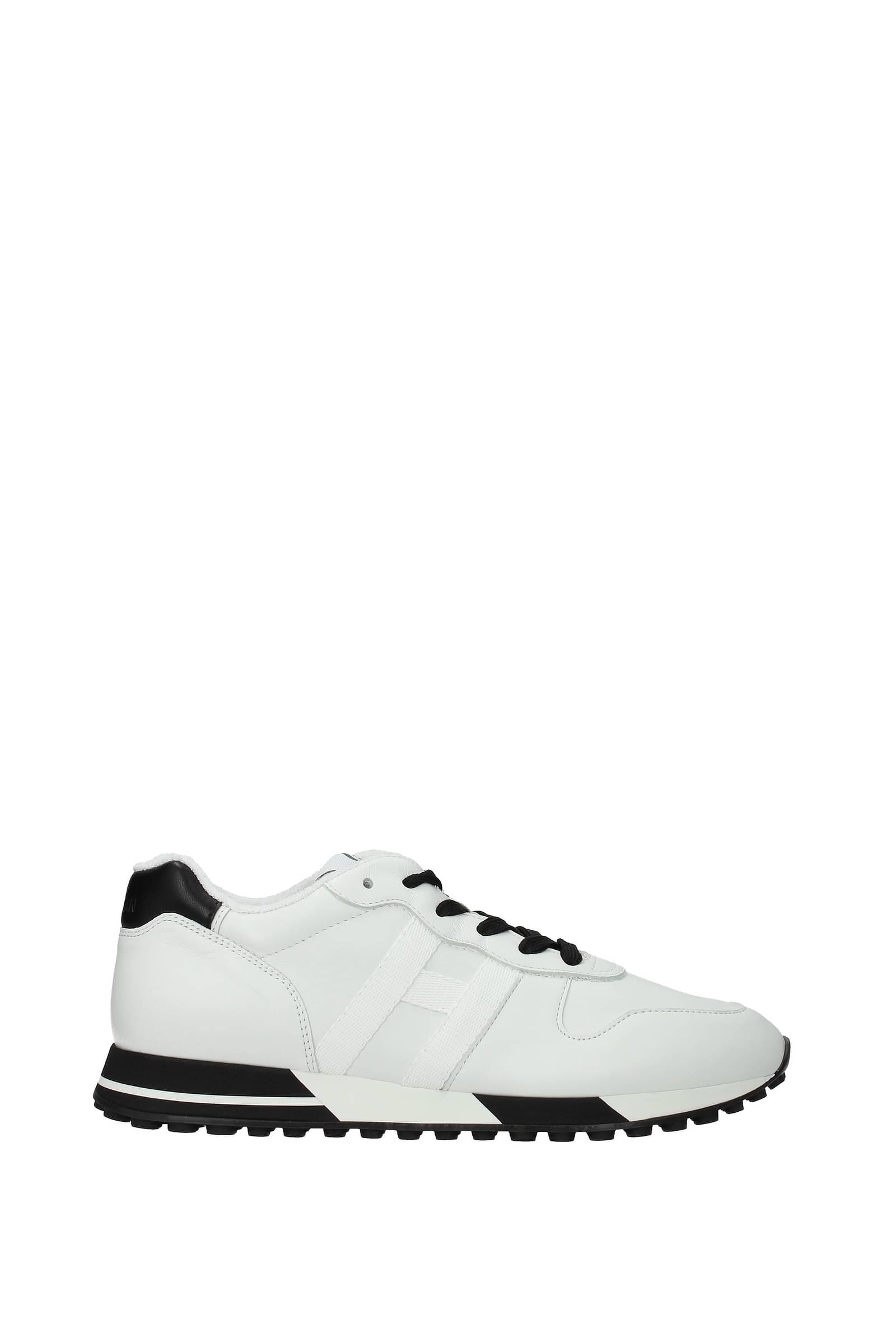 Hogan Sneakers h383 Men Leather White Black