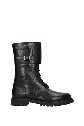 Christian Dior Ankle boots ground Women Leather Black