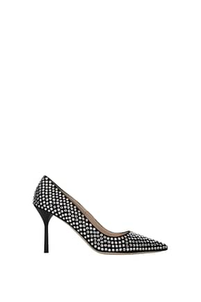 Miu Miu Pumps Women Crystal Black Silver