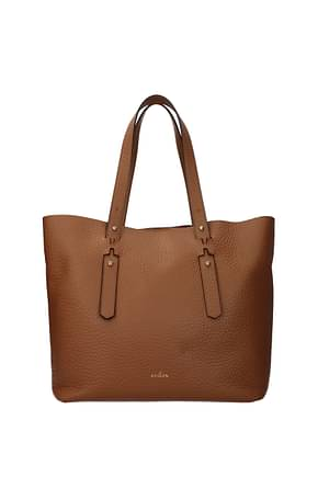 Hogan Shoulder bags Women Leather Brown Fawn