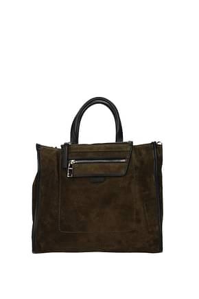 Hogan Handbags Women Suede Green Antelope