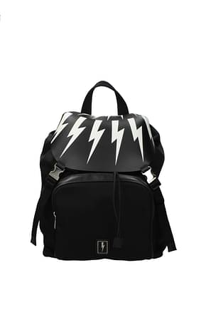 Neil Barrett Backpack and bumbags Men Leather Black
