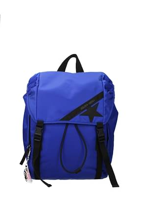 Golden Goose Backpack and bumbags Men Fabric  Blue Electric Blue