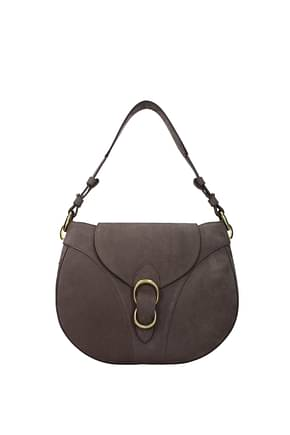 Orciani Shoulder bags Women Suede Brown Cocoa
