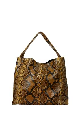 Orciani Handbags Women Leather Python Yellow Ocher