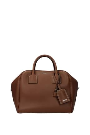 Burberry Handbags Women Leather Brown Malt Brown
