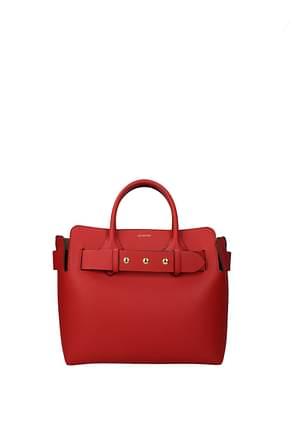 Burberry Handbags Women Leather Red Bright Red