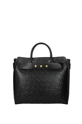 Burberry Handbags Women Leather Black