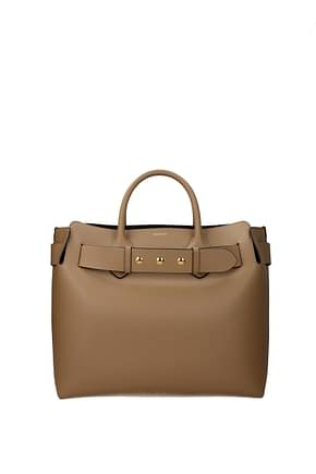 Burberry Handbags Women Leather Beige Camel