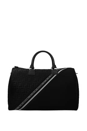 Fendi Travel Bags weekender Men Fabric  Black Grey
