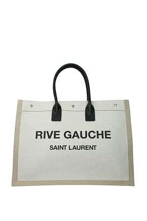 Saint Laurent Handbags rive gauche Men Fabric  Beige Light Sand