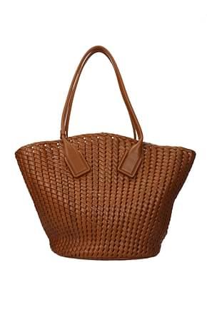 Bottega Veneta Shoulder bags Women Leather Brown Leather