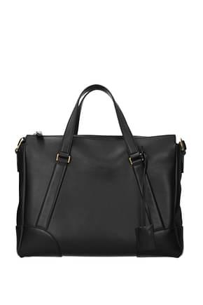 Salvatore Ferragamo Handbags Men Leather Black