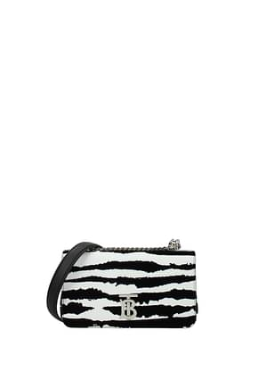 Burberry Crossbody Bag tb Women Leather White Black