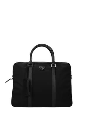 Prada Work bags Men Fabric  Black Black