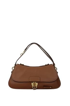Miu Miu Shoulder bags Women Leather Brown Cognac