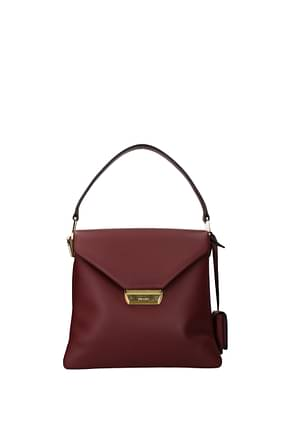 Prada Handbags Women Leather Red Cherry