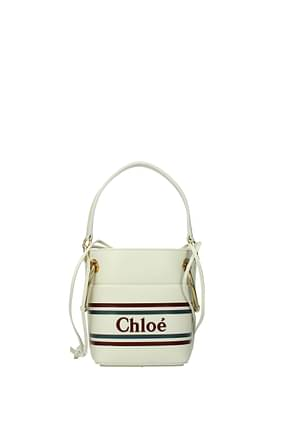 Chloé Handbags Women Leather Beige Ivory