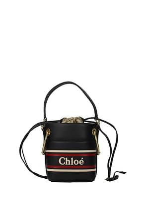 Chloé Handbags Women Leather Blue Midnight Blue