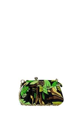 Fendi Clutches peekaboo Women Velvet Green