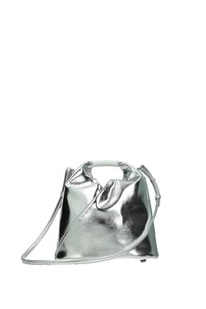 Maison Margiela Handbags mm6 Women Polyurethane Silver