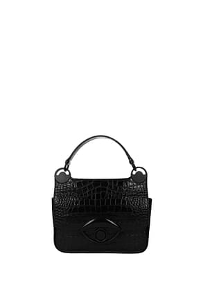 Kenzo Handbags Women Leather Black