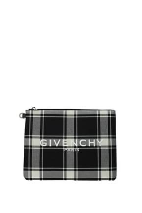 Givenchy Pochette  Hombre Tejido Negro Blanco
