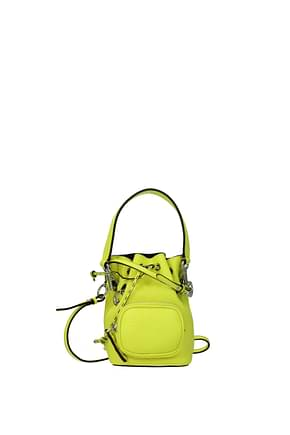 Fendi Handbags mon tresor Women Leather Yellow Fluo Yellow