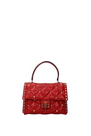 Valentino Garavani Handbags Women Leather Red Crimson
