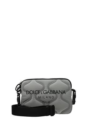Dolce&Gabbana Crossbody Bag Men Fabric  Silver