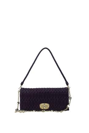 Miu Miu Clutches Women Leather Violet