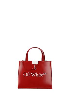 Off-White Handbags Women Leather Red