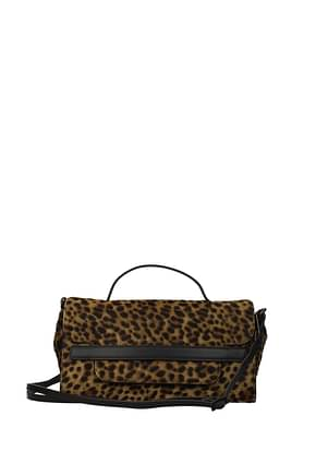 Zanellato Handbags nina Women Pony Skin Brown Leopard