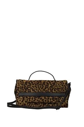 Zanellato Bolsos de mano nina Mujer Pony Piel Marrón Leopardo