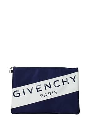 Givenchy Pochette  Hombre Tejido Azul marino Azul Navy