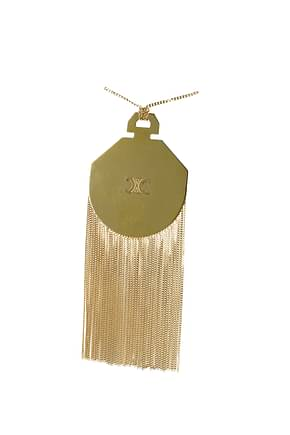 Celine Necklaces Women Brass Gold