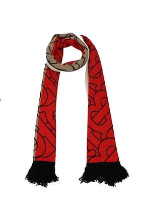 Burberry Scarves Women Cashmere Beige Red