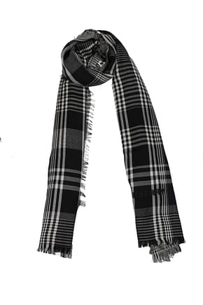 Burberry Scarves Women Cashmere Black White