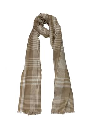 Burberry Scarves Women Cashmere Beige White
