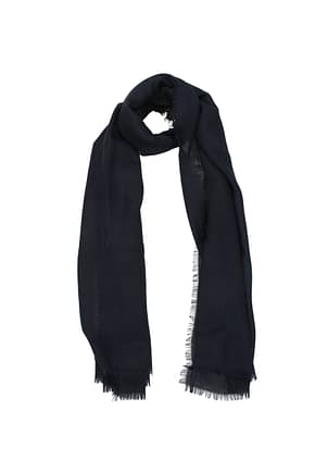 Burberry Foulard Women Cashmere Blue Blue Navy